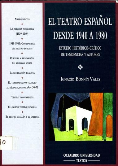 El teatro español desde 1940 a 1980